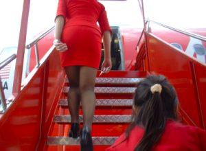 AirAsia Flight from Bangkok to Kuala Lumpur